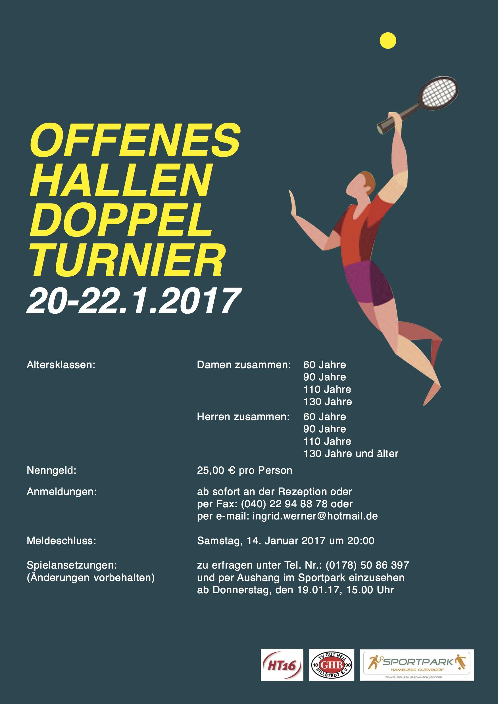 Offenes Hallen-Doppelturnier vom 20.01. bis22.01.2017