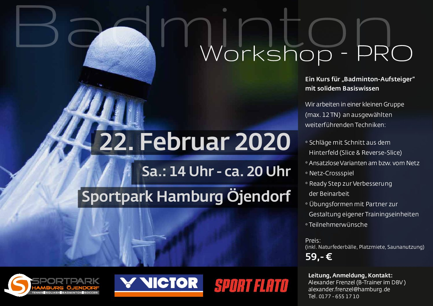 Badminton Workshop Pro 22.02.2020