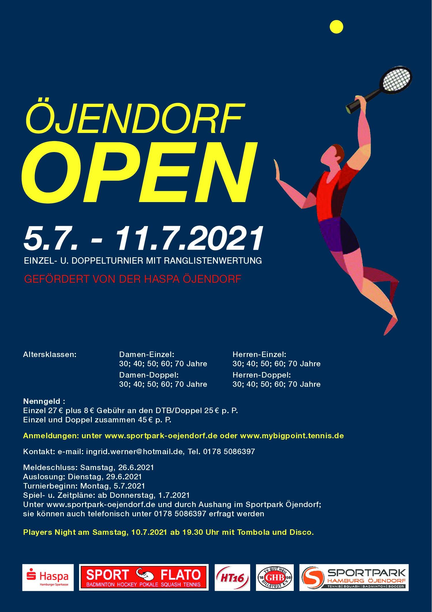 7. Öjendorf Open 2021