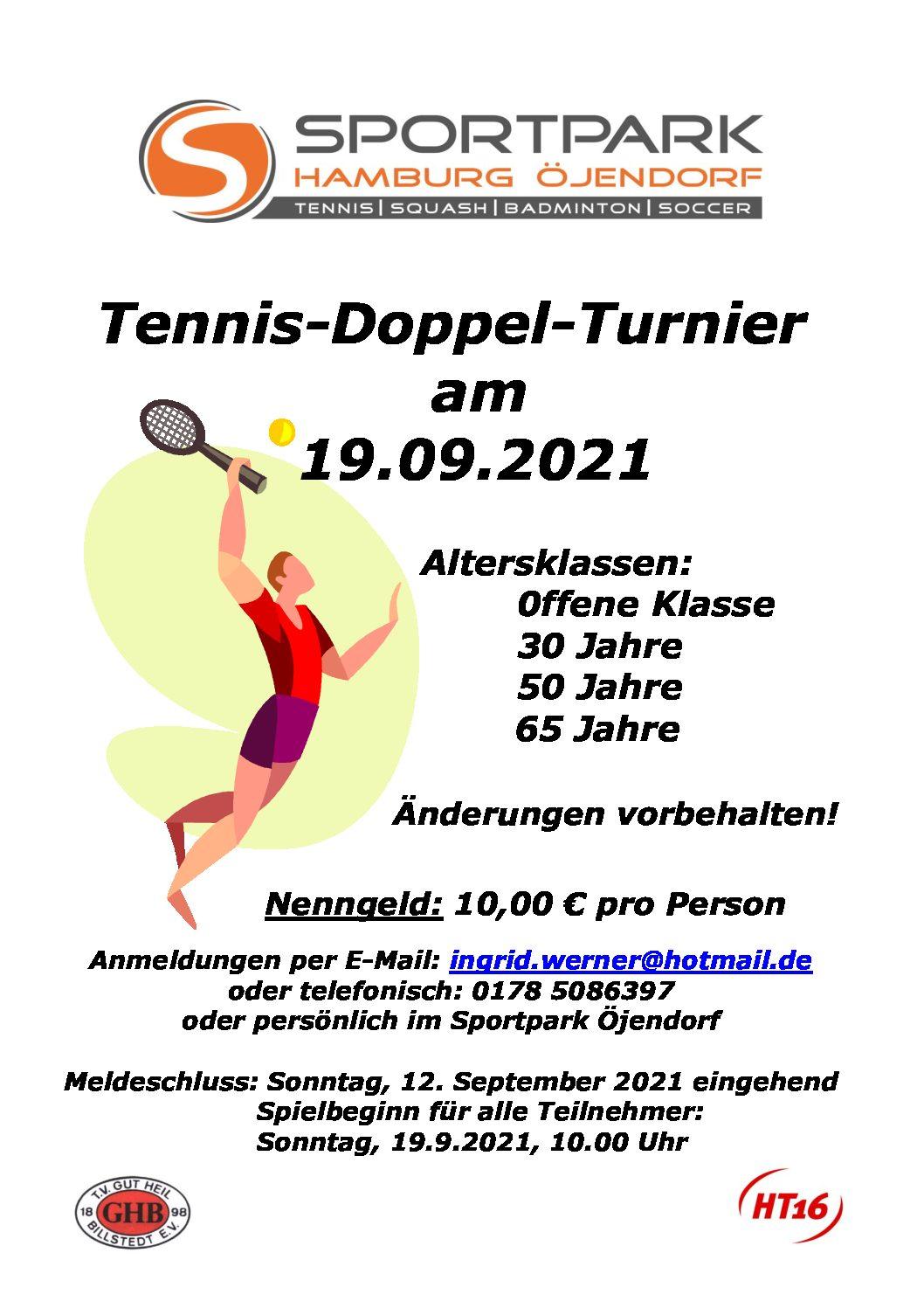 Tennis Doppelturnier 19.09.2021